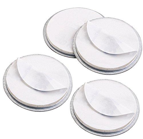 VisorTech Magnet-Befestigungspads: 4er-Set Magnet-Befestigungssysteme für Mini-Rauchwarnmelder...