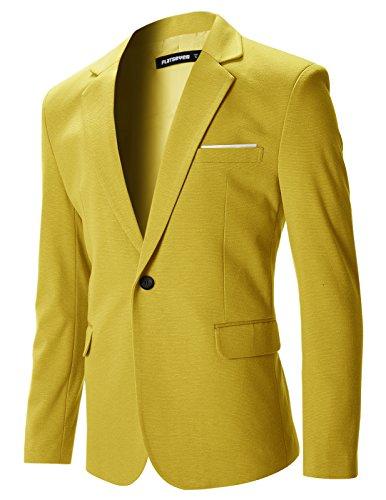Veste blazer jaune homme