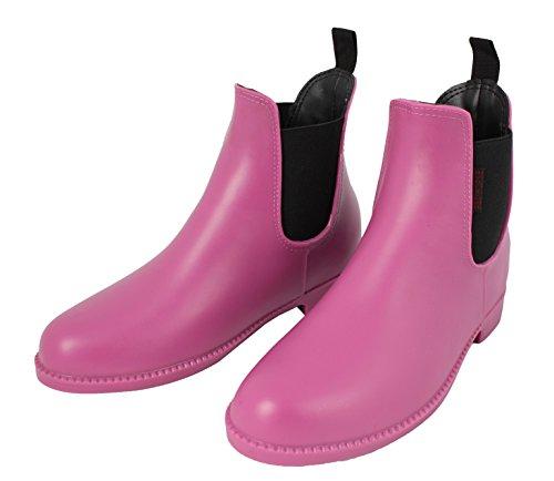 Rosso Jodhpur da stivali in PVC Rosa o Nero * * Tutte Le Misure * * Pink