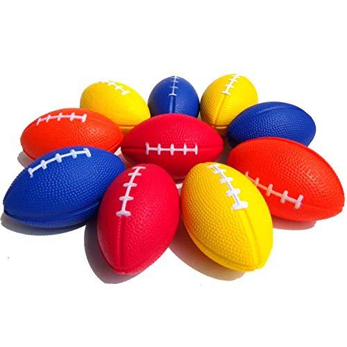 Mini Rugby Balls Anhänger Ball des Sports Schlüsselanhänger für Kinder-Party-Bevorzugungen Schulfest Preise zufällige Farbe 5 Stück Kleinkinder Spielzeug