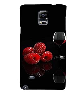 Fuson Premium Wine Printed Hard Plastic Back Case Cover for Samsung Galaxy Note 4 N9100