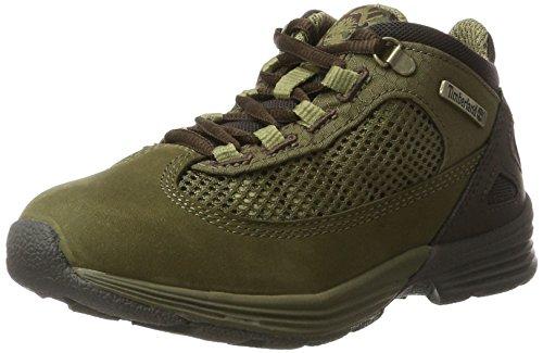 Timberland Kids Kenetic Fabric and Leather Chukka Boots, Grün (Deep Lichen Green), 35 EU (Timberlands Kids Grün)