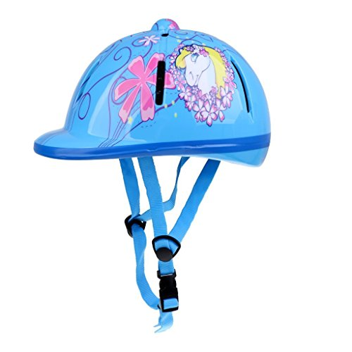 TOOGOO Kinder Kinder Einstellbare Reit Hut/Helm Kopf Schutzausruestung - Blau
