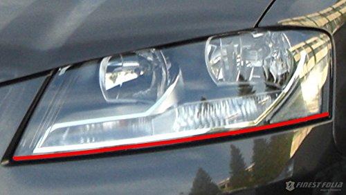 Devil Eye® Scheinwerfer Folie von Finest-Folia Stripe für Audi A3 8P S3 RS3 Sport S Line RS