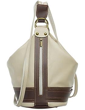 CASPAR TL721 2 in 1 Rucksack Handtasche Schultertasche Daypack aus weichem Nappa Leder