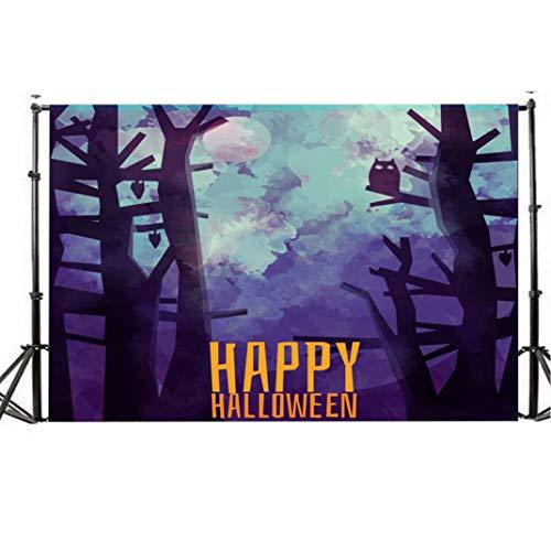 TianranRT Halloween Kulisse 5x3FT Laterne Hintergrund Fotografie Atelier Dekoration ()