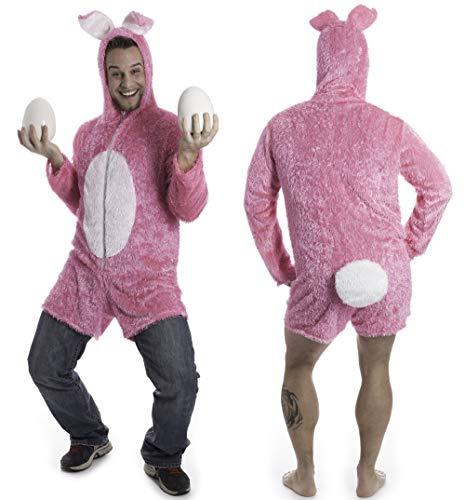 Party-Teufel Hasenkostüm Unisex mit kurzen Hosenbeinen und Riesen-Puschel Einheitsgröße groß geschnitten Junggesellenabschied (Für Erwachsene Teufel Kostüm)