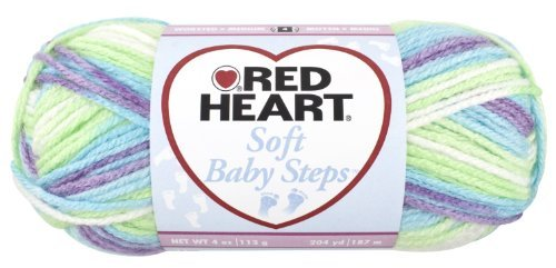 Red Heart Soft Baby Steps Yarn, Tickle by Coats & Clark Inc