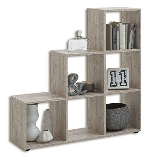 FMD Möbel Mega 1 Raumteiler, Holz, sandeiche, 104.5 x 33 x 108 cm