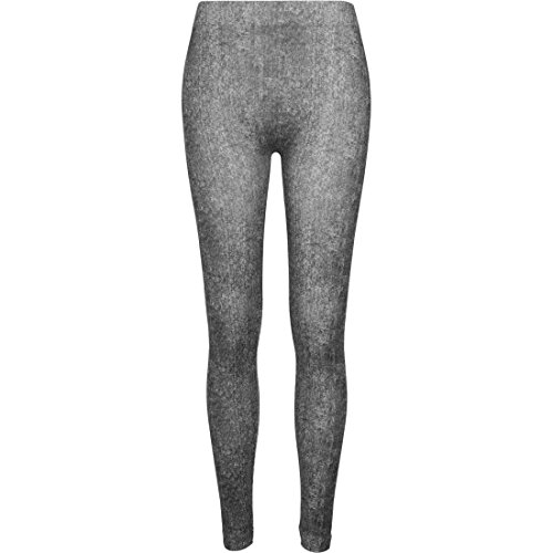 Urban Classics Ladies Denim Look Leggins Leggings nero L