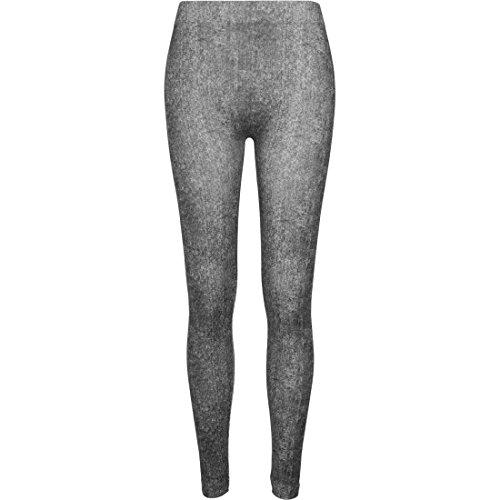 Urban Classics Ladies Denim Look Leggins Leggings nero L
