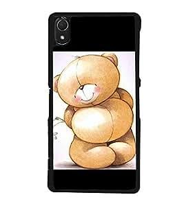 Cute Bear 2D Hard Polycarbonate Designer Back Case Cover for Sony Xperia Z3 :: Sony Xperia Z3 Dual :: Sony Xperia Z3 D6633