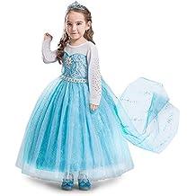 ELSA & ANNA® Princesa Disfraz Traje Parte Las Niñas Vestido (Girls Princess Fancy Dress) ES-DRESS304-SEP