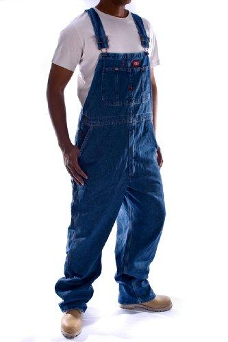 Dickies - Latzhose, Denim - Stone washed 83297HS arbeit jeans männer jeanslatzho DickiesSW-38W-34L