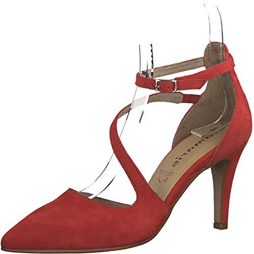 Tamaris 1-1-24439-22 Damen Slipper,Schlüpfschuh,Slip-on,modisch,Freizeitschuh,Touch-IT,Lipstick,38 EU