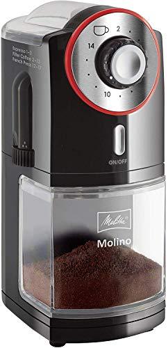 Melitta Molino molinillos de cafe, 100 W, 0.2 kg, Negro/Rojo