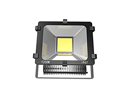 4-Pack 200W 90-265VAC Daylight White LED Flood Scurity Light 18000-22000Lm IP65 Waterproof Protection 120 Degree Beam Angle for Outdoor AL-J-TGL200W