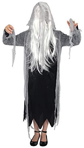 Foxxeo Geister Kostüm für Mädchen zu Fasching und Halloween - Größe 122 bis 176 Größe 146-152