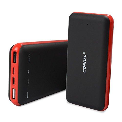 Power Bank 20000mAh, Ladegerät Notebook cornmi 2USB (IOS 2.1A und Android 2.1A) Stromversorgung Batterie Ultra Hohe Kapazität für Smartphone und Tabletten
