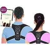 Rückenstütze Haltungskorrektur Geradehalter Herren Damen Haltungstrainer zur Unterstützung für den oberen gegen Nacken Schulterschmerzen Rückenbandage   Verstellbar (X - M - L)