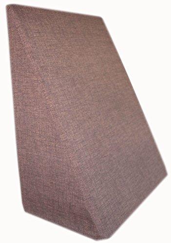 Rücken - Keilkissen - Lesekissen - Die Rückenstüze für das Bett oder Sofa versch. Farben Relaxkissen Beinkissen 60 x 50 x 30 cm (Braun)