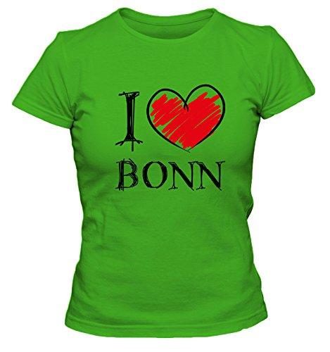 I Love Bochum Fun Damen T-Shirt, Größe:XL;Farbe:grün