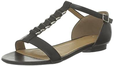 Clarks Studio Beat, Damen Knöchelriemchen Sandalen, Schwarz (Black Leather), 36 EU