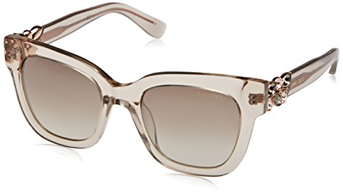 Jimmy Choo Damen MAGGIE/S NQ W7H Sonnenbrille, Grau (Tr Dove Grey/Brown Smoke Slv), 51