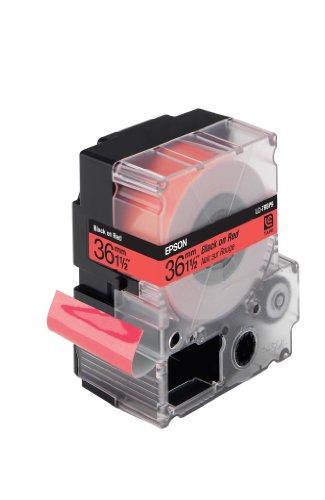 EPSON LC-7RBP9 Pastel schwarz auf rot tape 36mm (Pasteles Maschine)