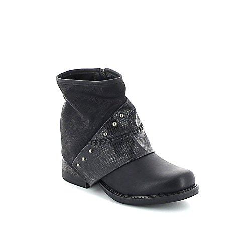 Boots cloutée Noir