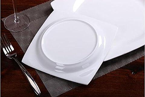 Vaisselle en porcelaine d'os Western-style bol blanc os assiettes en porcelaine square assiette assiette plats boulette petites plaques Diamètre de