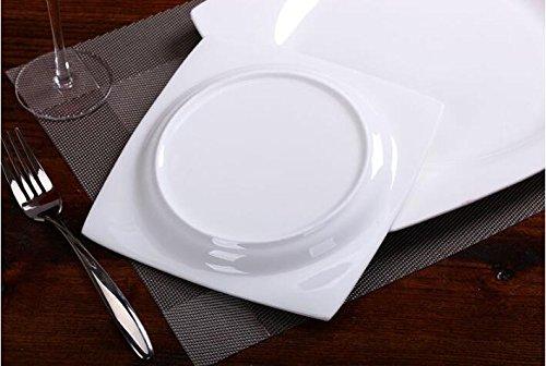 vaisselle-en-porcelaine-dos-western-style-bol-blanc-os-assiettes-en-porcelaine-square-assiette-assie