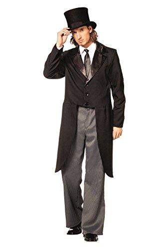 Kabarett Kostüm - L3300150-54 Herren Frack schwarz Kostüm Gr.54