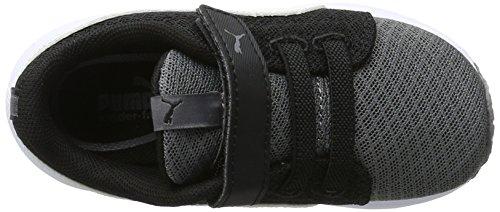 Puma Carson Runner Mesh Ve V Inf, Sneakers Basses Mixte Enfant Gris (Steel Gray-puma White 03)