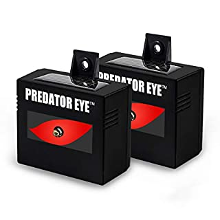 Aspectek Predator Eye Night Time Solar Powered Animal Control Repeller - 2 Pack, Waterproof, Pest Control, Nocturnal Animals, Outdoor
