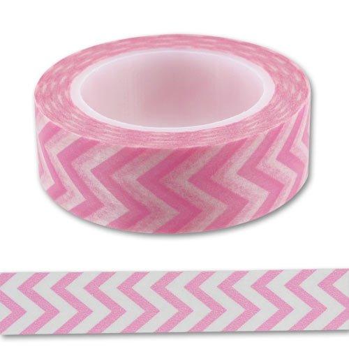 Ruban adhésif 15 mm Chevron Pink x10m