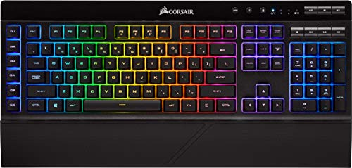 Corsair K57 RGB Wireless Gaming Tastatur (Dynamische RGB Hintergrundbeleuchtung, Leise, 1ms Slipstream Wireless Technologie, QWERTZ) schwarz