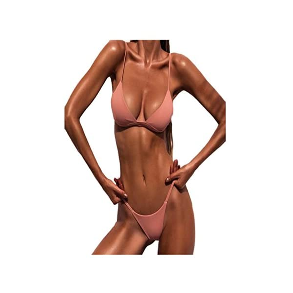 Yanhoo Donne Push-up Reggiseno Imbottito Spiaggia Bikini Set Costume da Bagno, Halter Push Up Sportivi Sexy Bikini Costumi da Bagno Beachwear Due Pezzi 1 spesavip