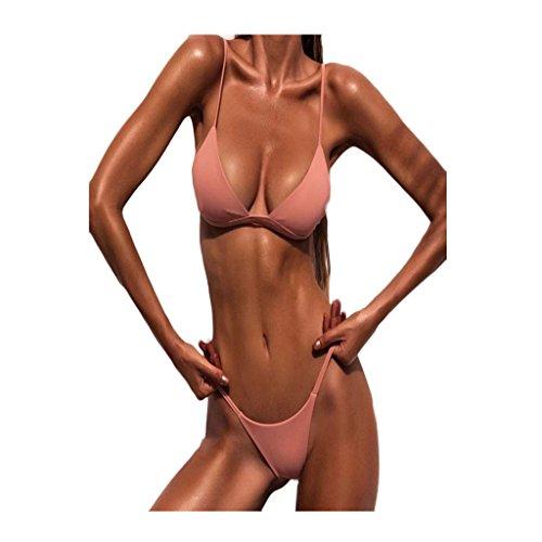 12aaf002055ba Yanhoo Donne Push-up Reggiseno Imbottito Spiaggia Bikini Set Costume da  Bagno