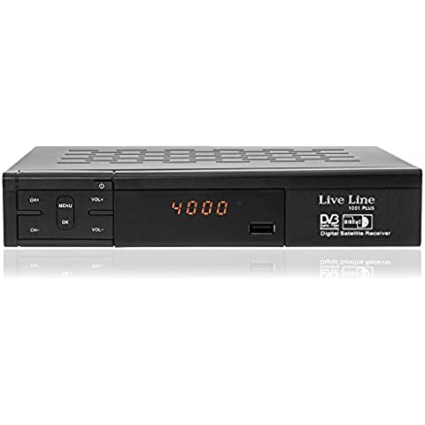 Live Line HD 1001 Plus HDTV – Receptor satélite digital (HDTV, DVB-S2, HDMI, SCART, USB 2.0, Full HD 1080p, pantalla LED)