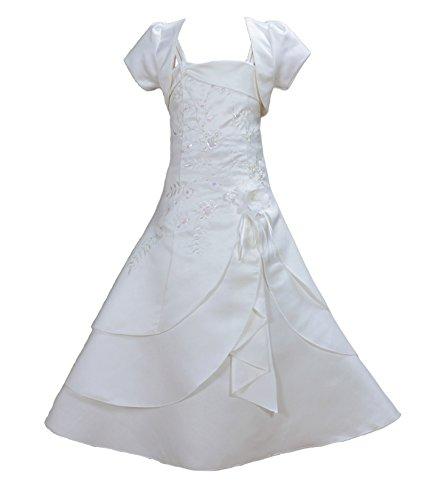 Cinda Mädchen Brautjungfer / Heilige Kommunion Kleid Elfenbein 146-152