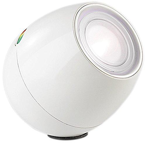 Lunartec Stimmungslampe: Weiße LED-Stimmungsleuchte mit Touch-Farbregler, 256 Farben (LED Stimmungslicht)