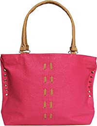 Lorna Women's Stylish PU Hand Bag (Brown/Orange/Tan/White/Pink)