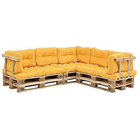 [en.casa] Euro Paletten-Sofa - DIY Möbel - Indoor Sofa mit