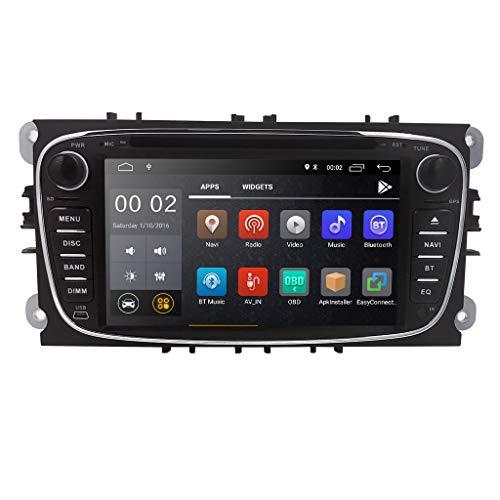 hizpo Android 8.1 Autoradio Stereo DVD-Player Kopfeinheit 7 Zoll Touchscreen In Dash GPS DVD-Player Unterstützung 4G WiFi USB SD CAM-IN OBD2 DAB + DVR für Ford Mondeo S-max Focus Galaxy C-max