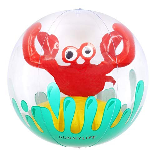 SunnyLIFE Klassisch Aufblasbar Round Strand Ball Sommer-Pool-Spielzeug groß mürrisch