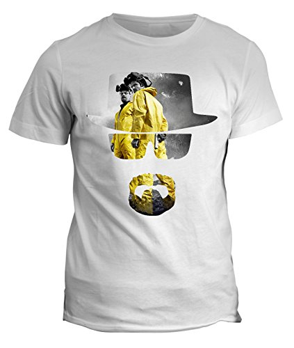 Tshirt walter heissemberg e jesse pinkman - breaking bad serie tv - in cotone by Fashwork Bianco