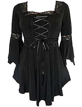Camicetta Sexy Oversize Donne - T Shirts Maniche Tromba Tops 3/4 Lunghezze Maniche Lunghe Camicetta Elegante Pullover...