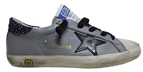 GOLDEN GOOSE DELUXE BRAND SUPERSTAR SNEAKERS U7 GREY NEW MULTIGLITTER