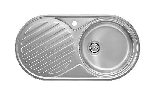 Roca Duo Top-Mount Kitchen Sink Oval Stainless Steel – Kitchen Sinks ...